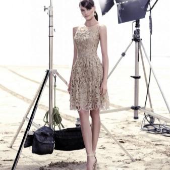 Flesh colored lace dress