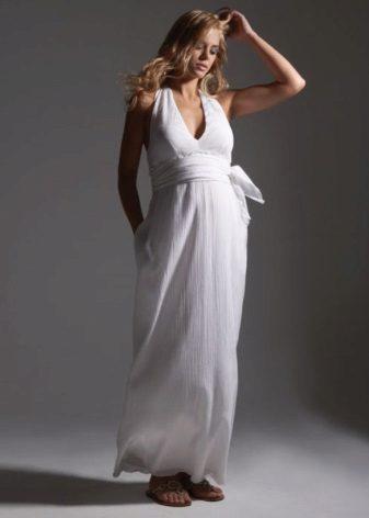 Сватбена рокля за майчинство от шифон