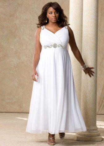 Vestit de núvia d'estil imperi per al màxim