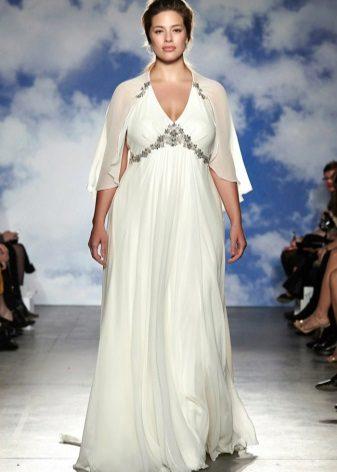Vestit de núvia per a imperis sencers