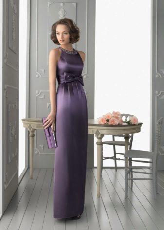 Purple evening dress