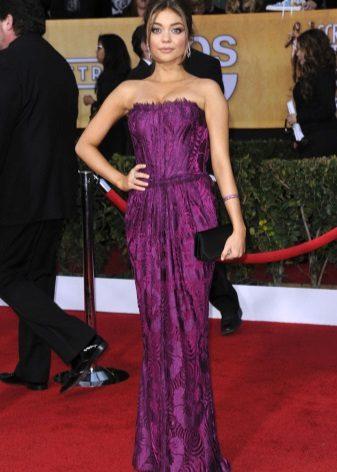 Makeup for purple dress