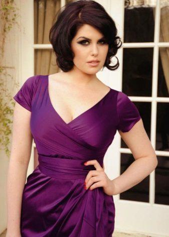 Make-up pro fialové šaty