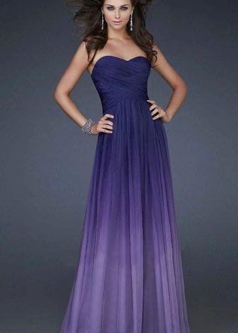 Warna lilac kecerunan pada pakaian petang
