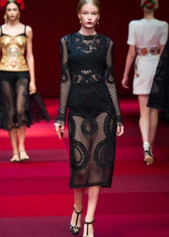 Vestido de noite de Gabbana