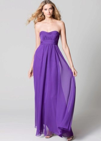 Lila večerní šaty
