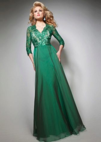 Summer evening dress made of chiffon