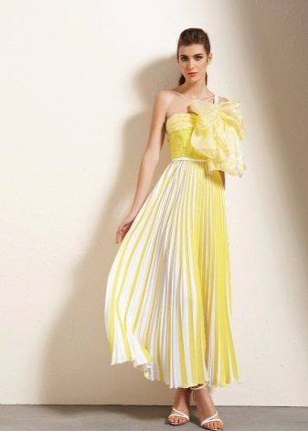 Evening summer dress yellow