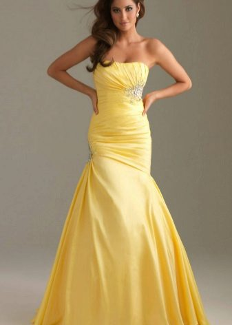 Beautiful yellow evening dress