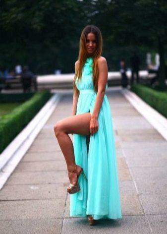 Vestido turquesa para morenas