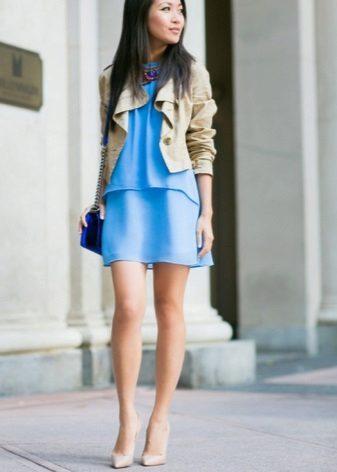 Lyseblå kjole sko