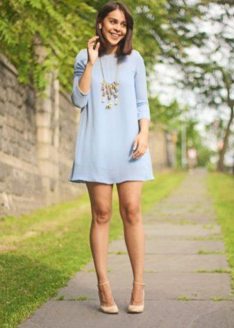 Mga accessory ng Blue dress