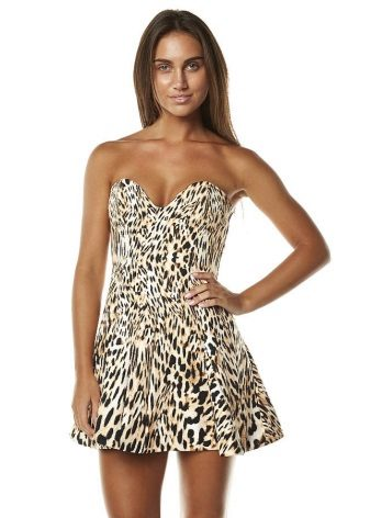Leopar mini elbise uzunluğu