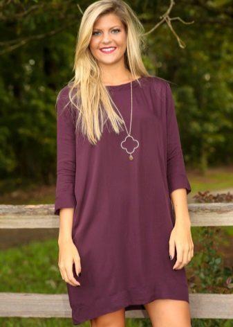 Eggplant Casual Dress