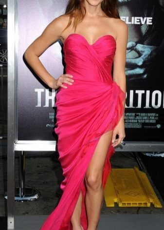 Fuchsia Long Evening Dress