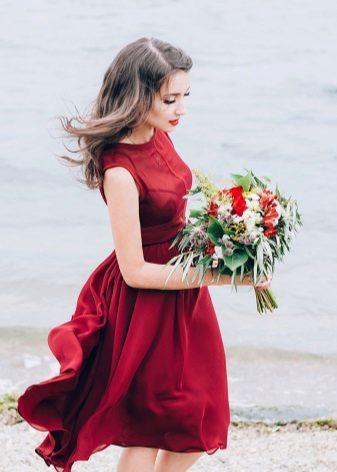 Dress marsala