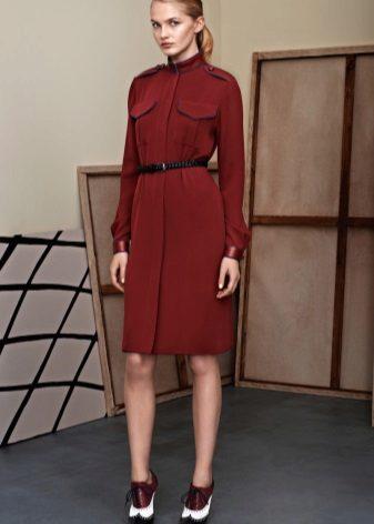 Midi-mekko paita Marsala -värissä