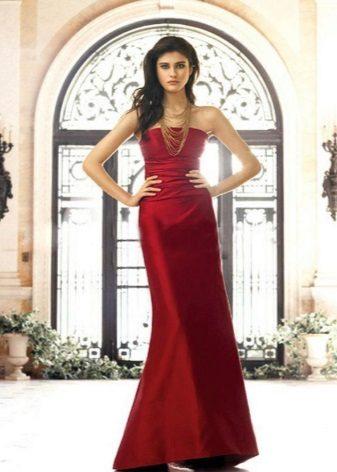 Dark Crimson Dress for Brunettes