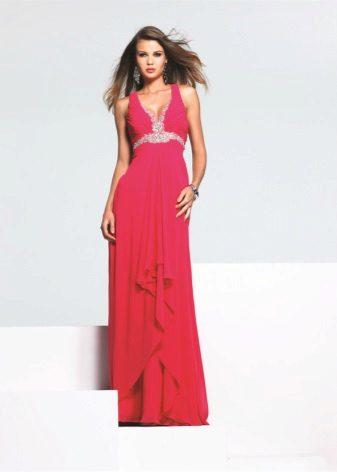 Light crimson long dress