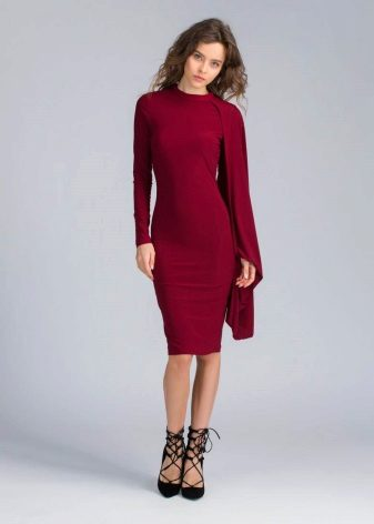 Dress wine color medium length