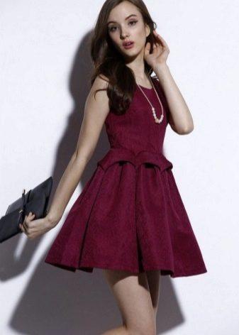 Gold chain to burgundy dress