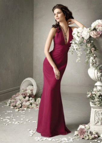 Wine-colored dress