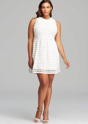 Korte jurk voor dikke buik