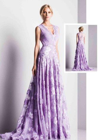 Sarışın için leylak elbise