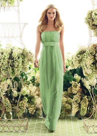 Sarışın için açık yeşil elbise