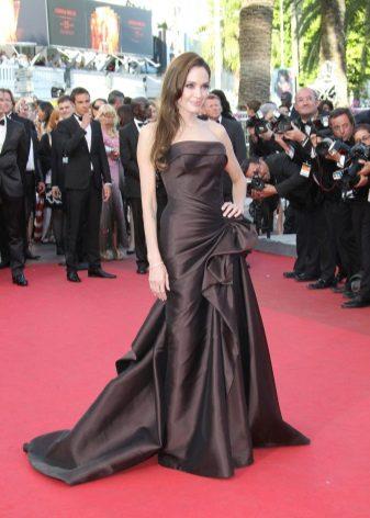 Angelina Jolie Brown Dress