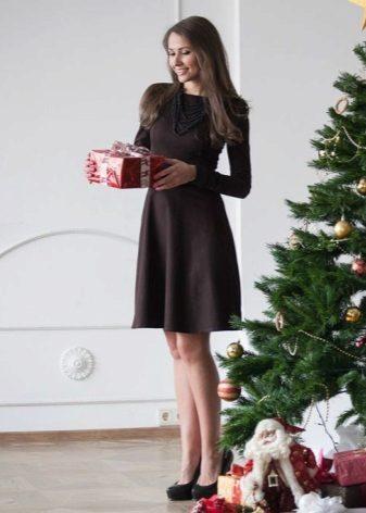 Kontor brun kjole