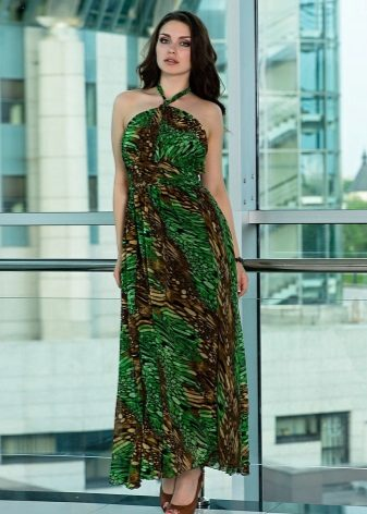Brun-grøn kjole