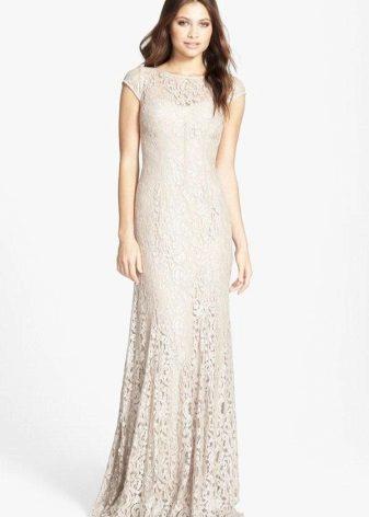 Milky Long Lace Dress