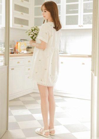 Milky linen dress-shirt