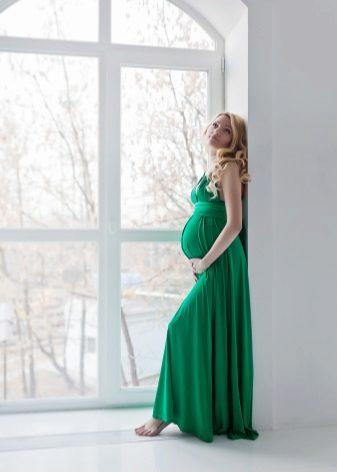 Elegante jurk voor zwangere vrouwen