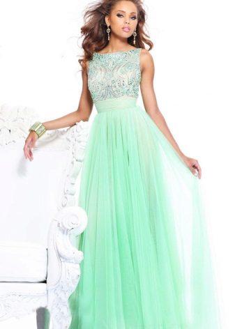 Mint dress with rhinestones