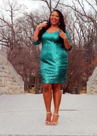 Estoig elegant vestit de color verd per a dones obeses