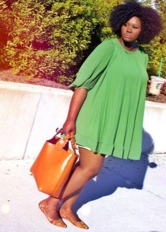Túnica verda curta per a dones obeses