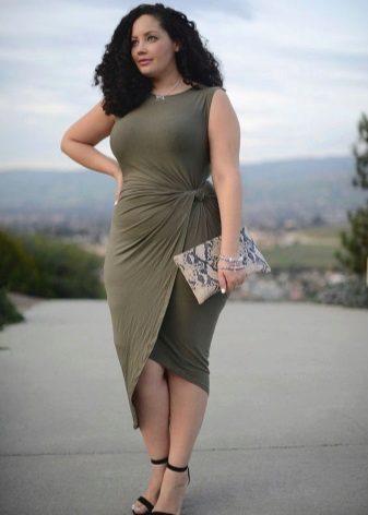 Vestit amb vora asimètric per a dones obeses
