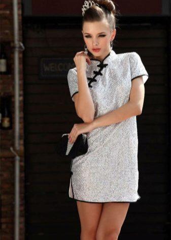 קצר שמלת ז 'יפ שמלה (שמלת chongsam)