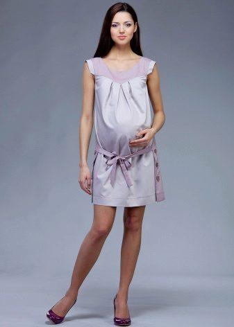 Vestido com túnica de cintura baixa