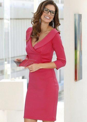 Three-quarter sleeve dress