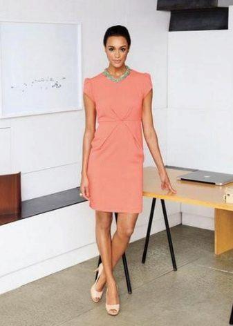 Peach-colored dress