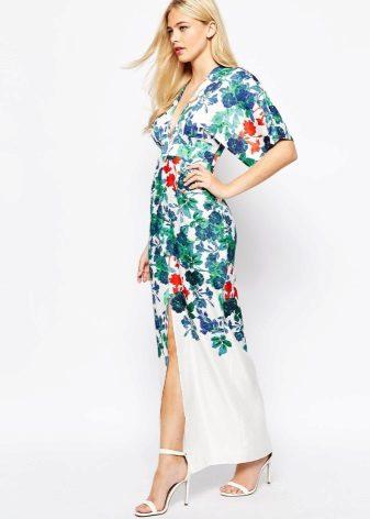 Kimono-jurk met bloemenprint