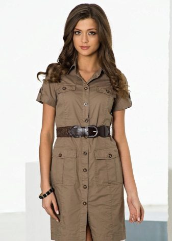 Safari Style Shirt Dress