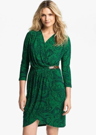 Tatlong quarter sleeve dress wrap
