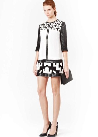 Dress tunic black and white