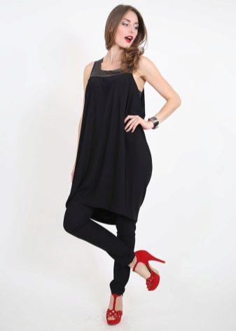 Black dress tunic