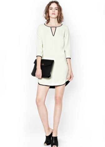 White dress-tunic with black edging