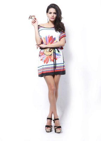 שמלת טוניקה עם הדפס